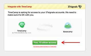 Time tracking with Basecamp
