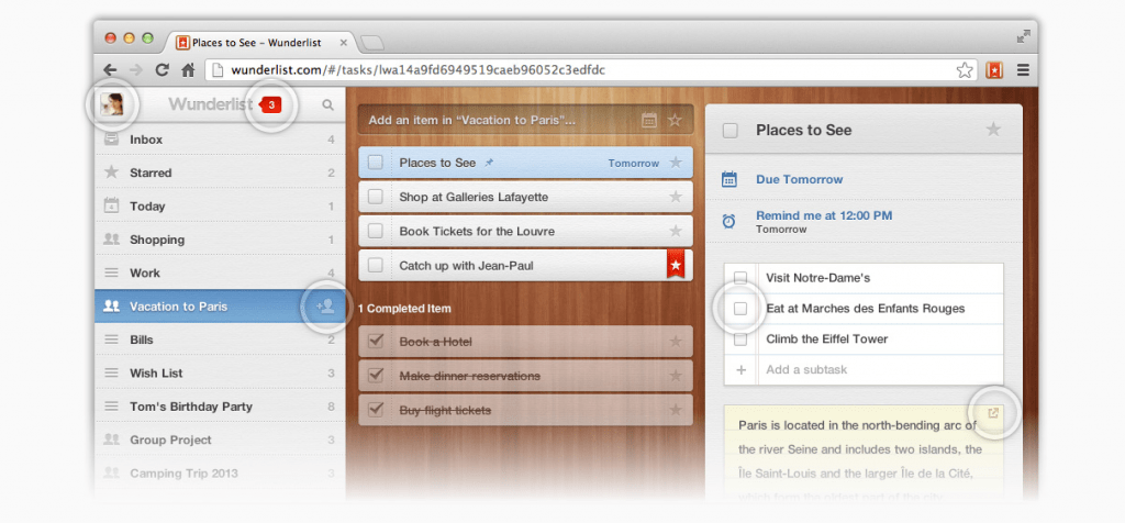 Time tracking with Wunderlist