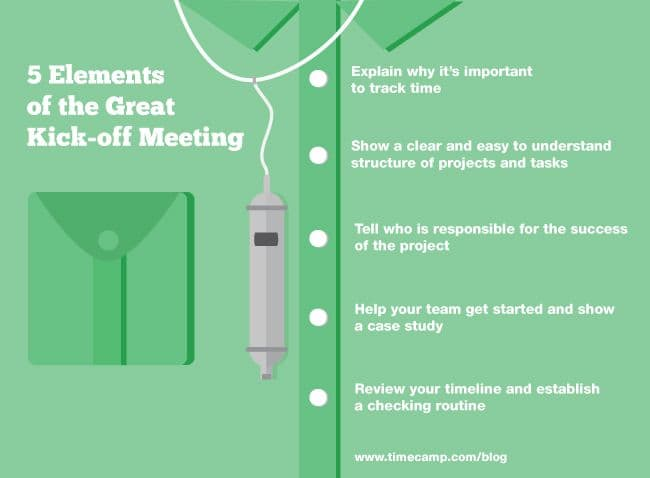 5 Elements of the Great Time Tracking Kick-off Meeting