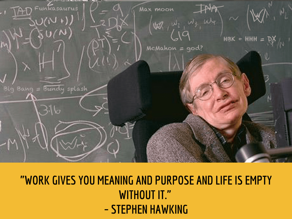 stephen hawking productivity quote