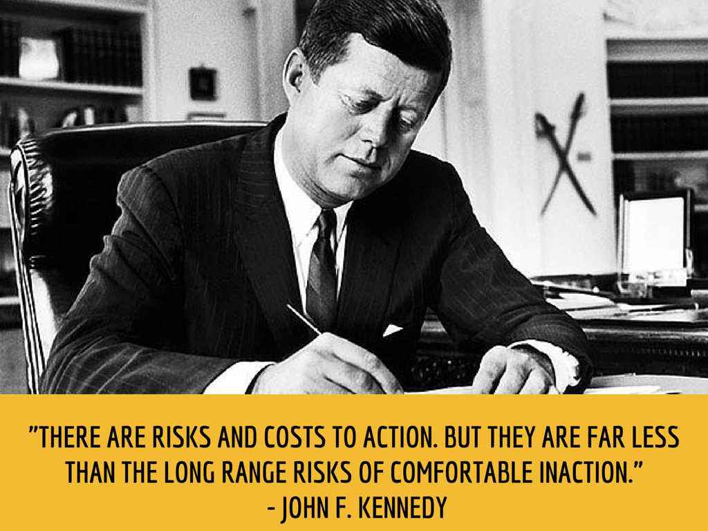 john f. kennedy productivity quote