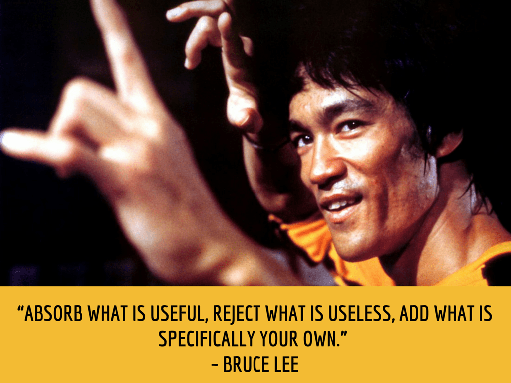 bruce lee productivity quote