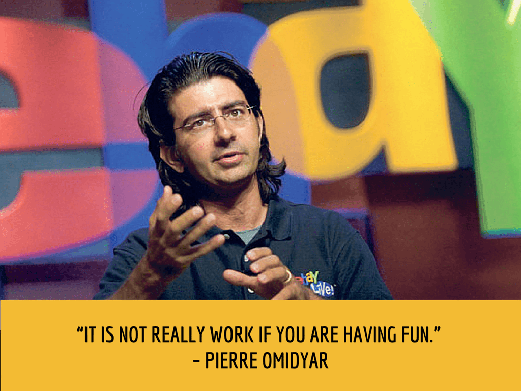 pierre omidyar productivity quote