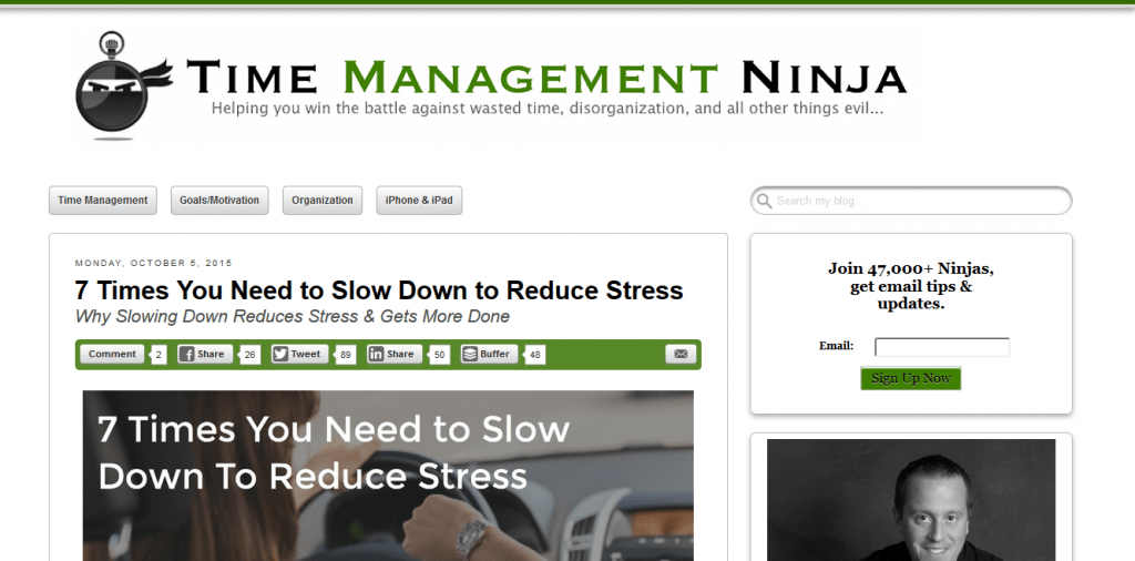 Time Management Ninja blog