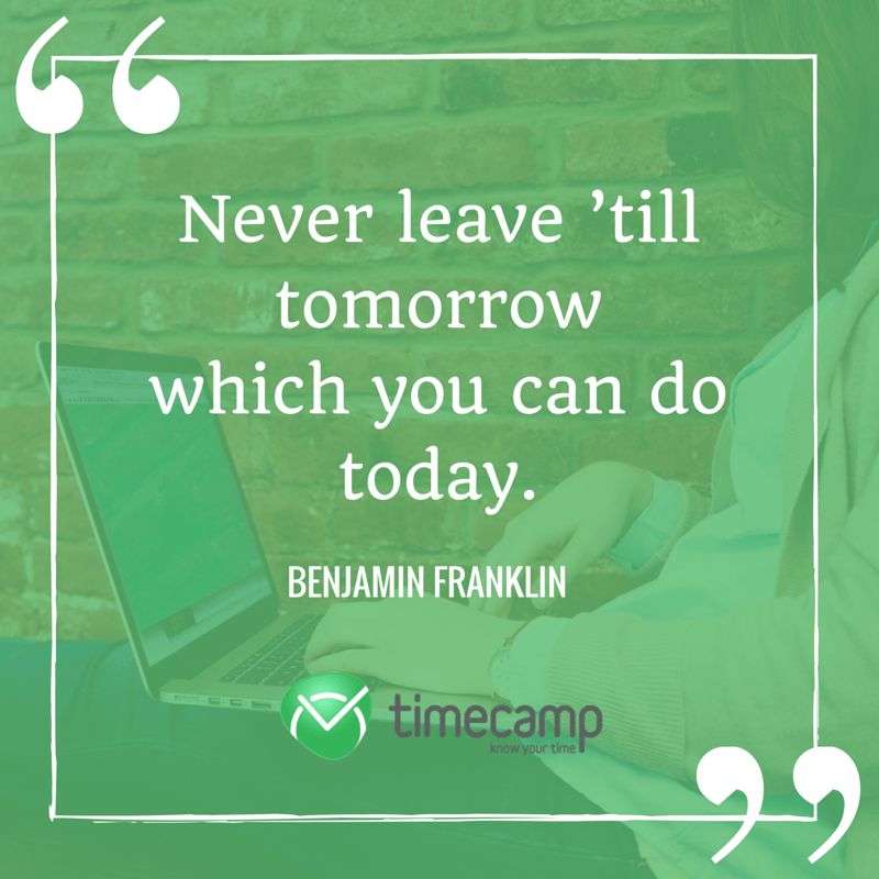 most inspiring quotes about time timecamp
