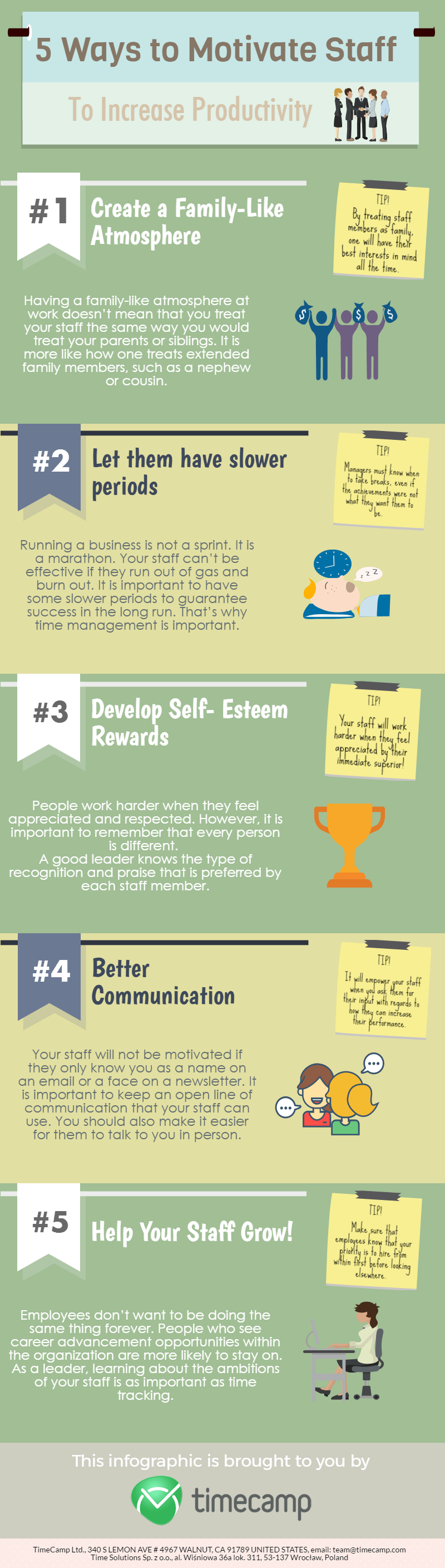 5 ways to motivate staff