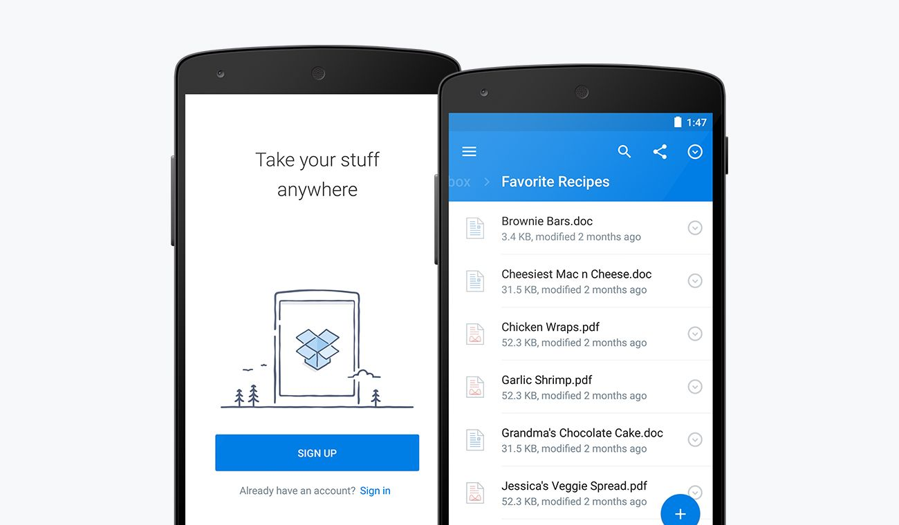 dropbox-for-android-screen