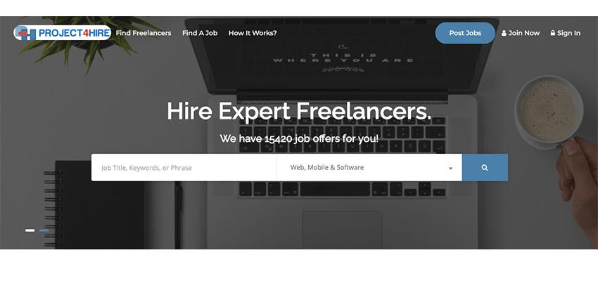 project4hire freelance websites list