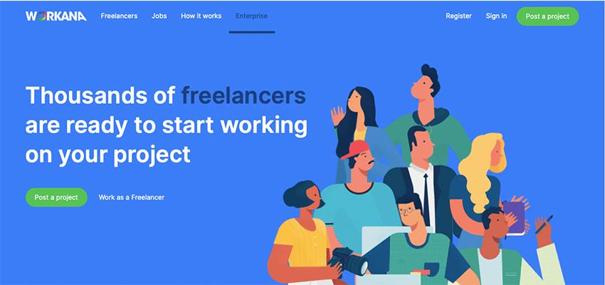 freelance websites list Workana