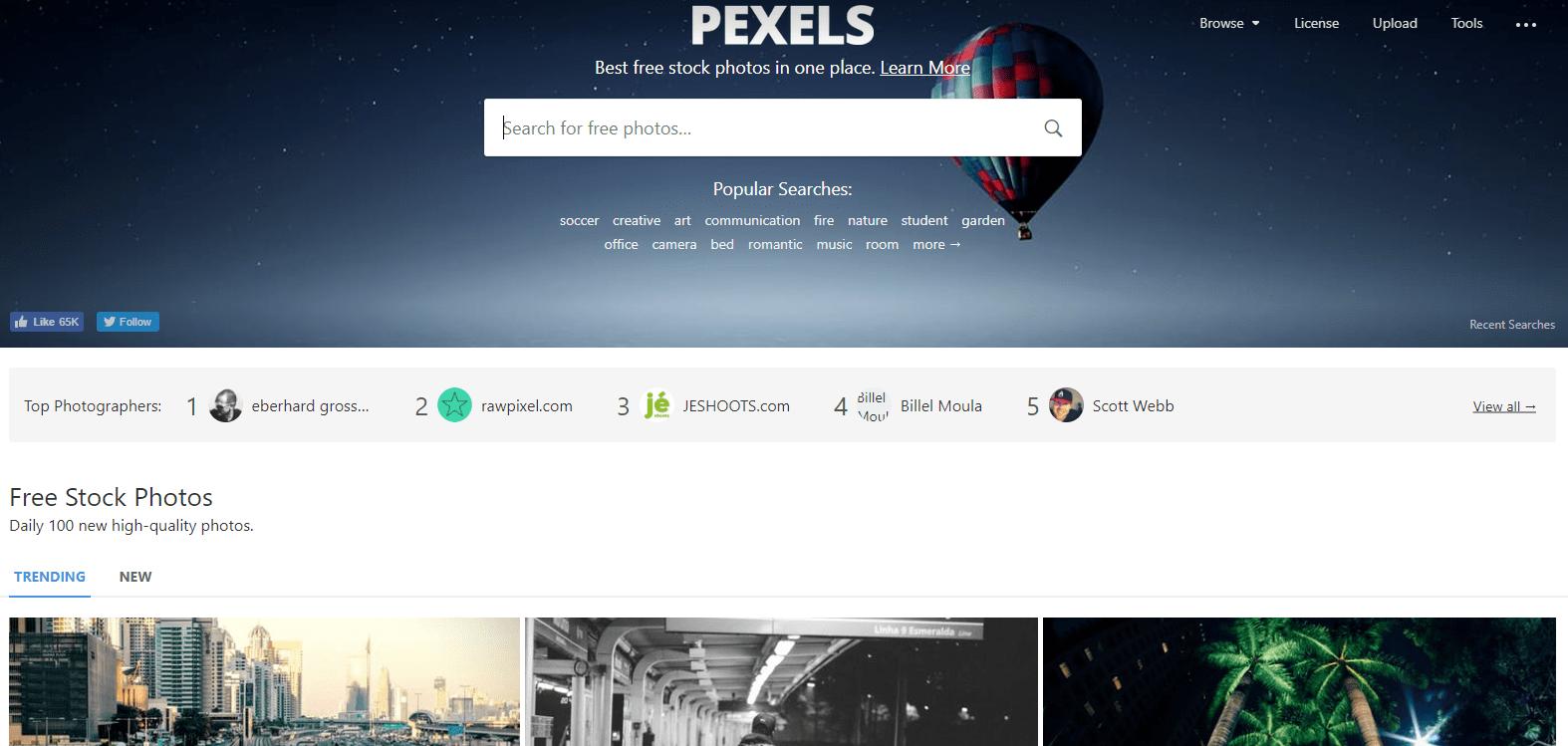 pexels screen