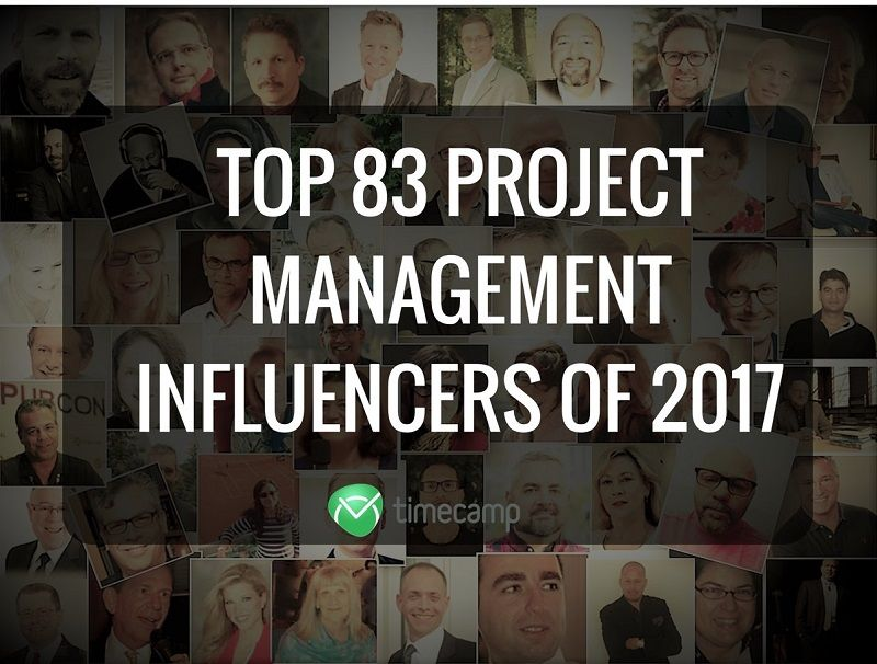 Top 83 Project Management Influencers Of 2017 Timecamp