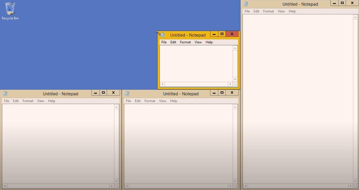 AquaSnap application screenshot
