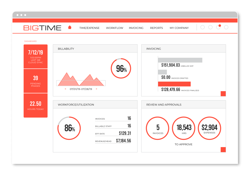 BigTime - time and billing software for accountants