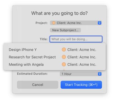 Timing desktop app
