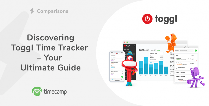 Toggl time tracker header
