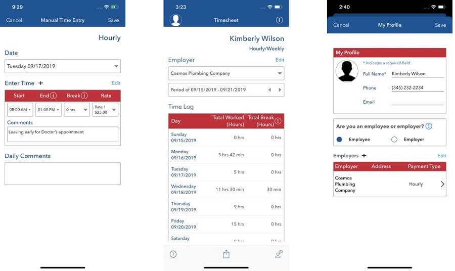 DOL-Timesheet app for time tracking