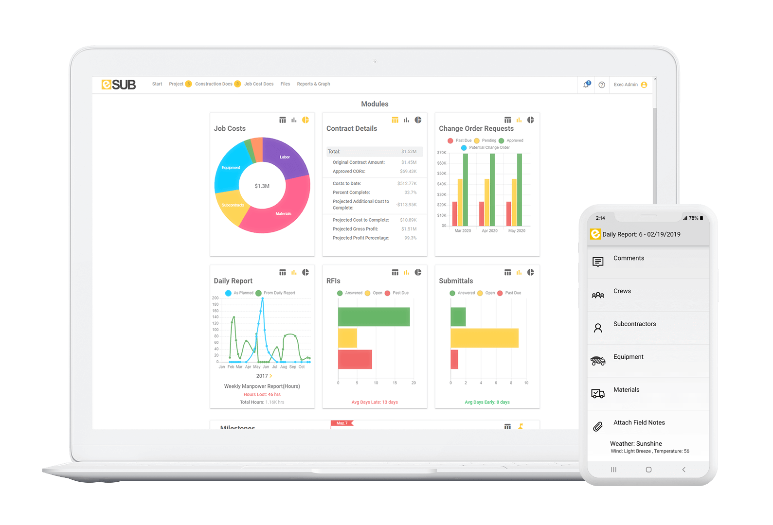 esub time tracker for contractors