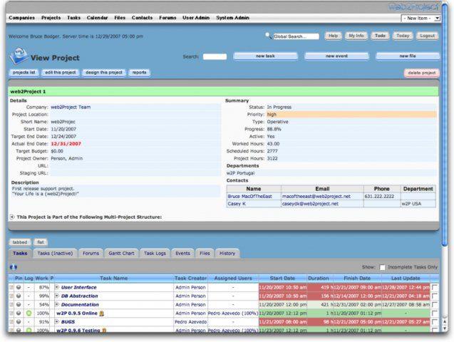 w2p project management