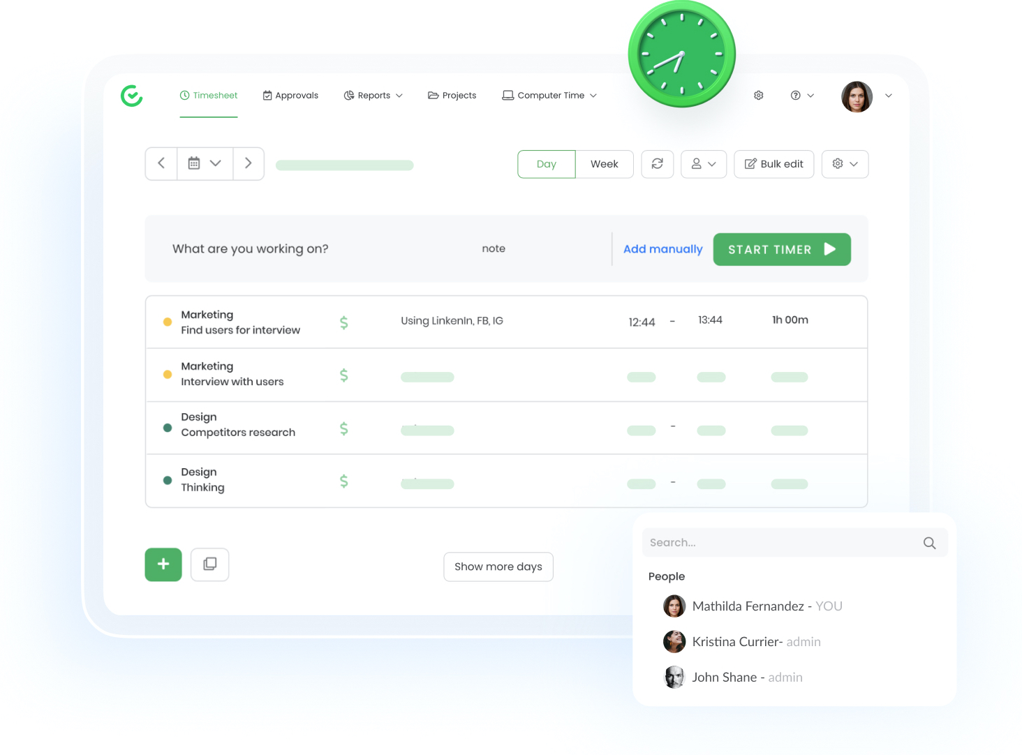 TimeCamp timesheet app