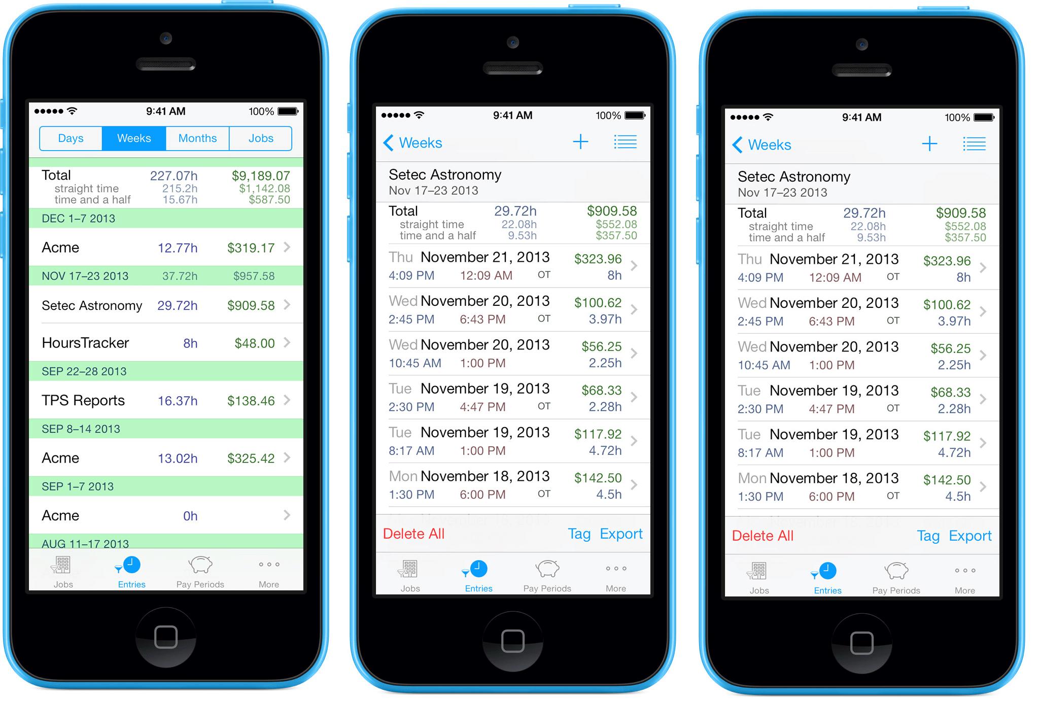 hourstracker app for mobile