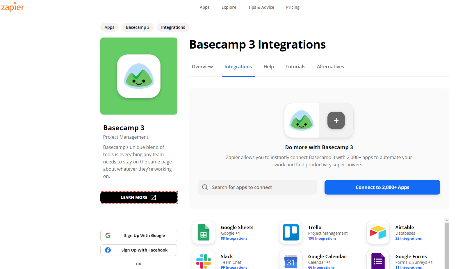 Basecamp integrations