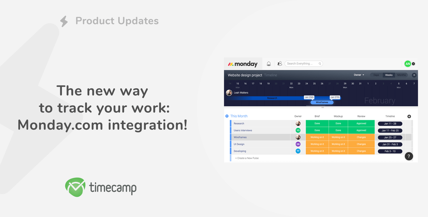 The new way to track your work – monday.com integration!