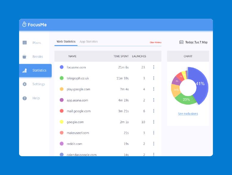 FocusMe productivity tracker