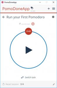 PomoDoneApp productivity tracker
