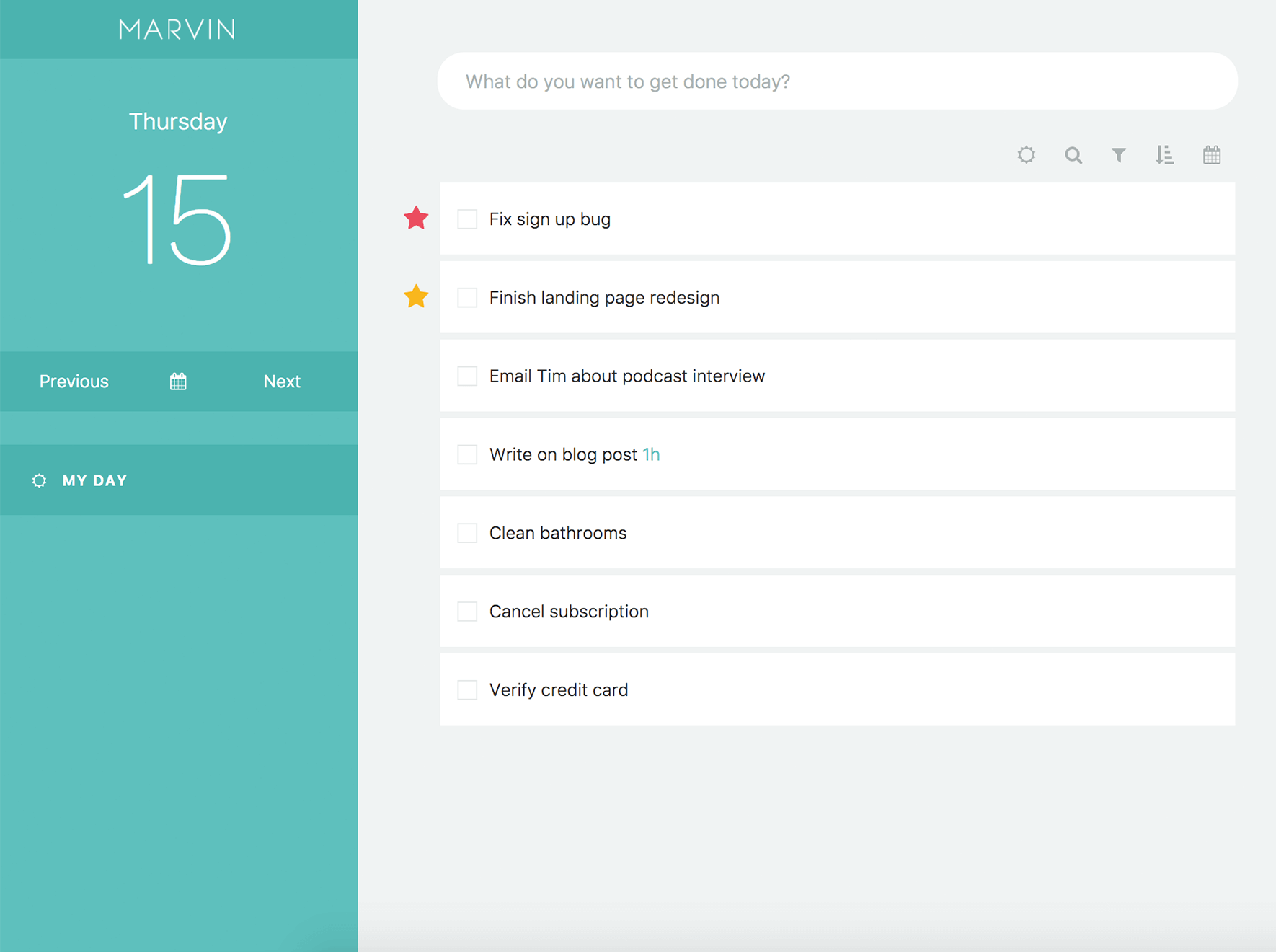 Amazing Marvin time management app