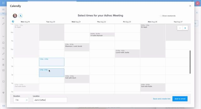 calendly for outlook