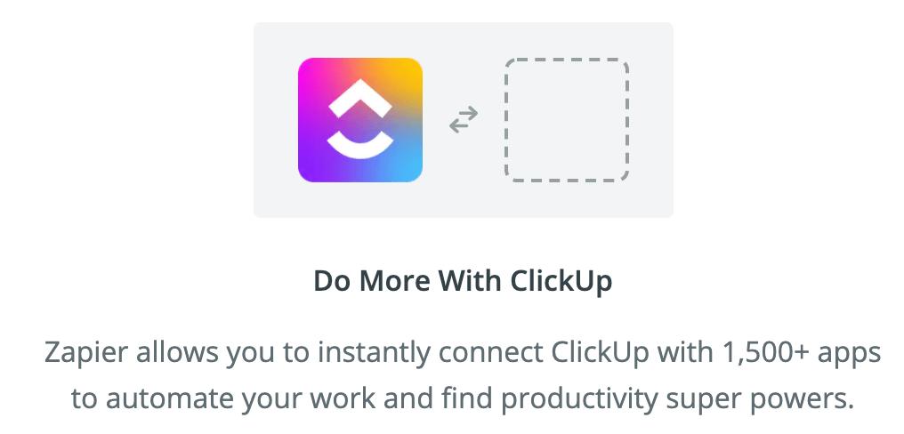 clickup integrations zapier