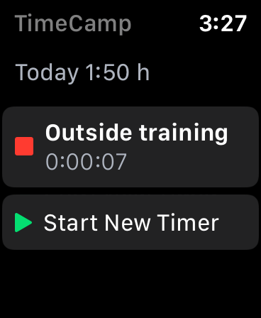 timecamp for Apple Watch