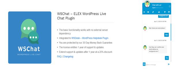 WSChat a WordPress Plugin