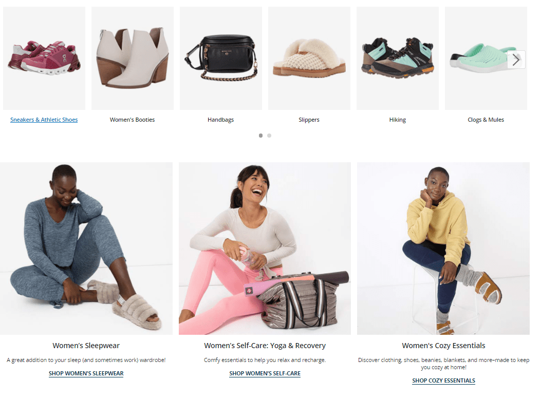 zappos products screenshot