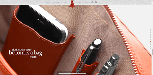 baggia website screenshot