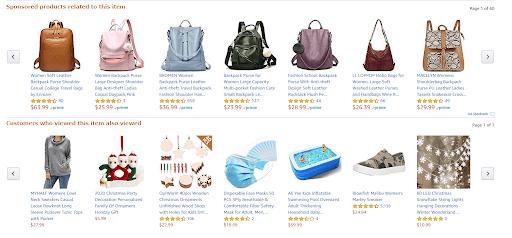 amazon products screenshot