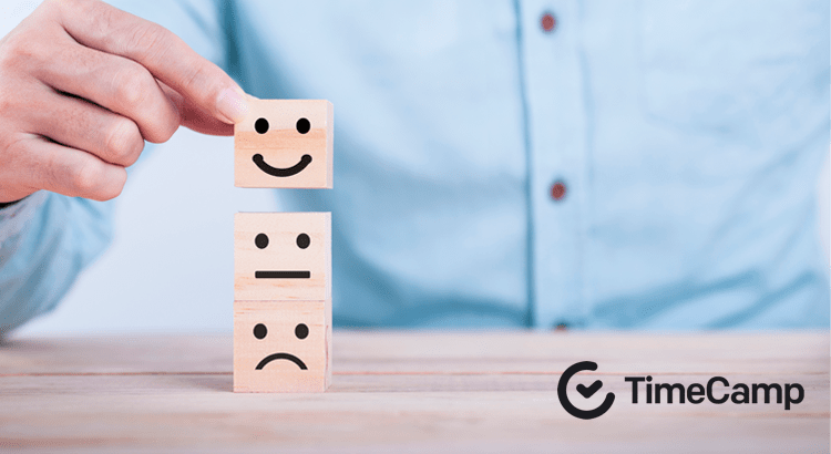 wooden blocks with face expressions
