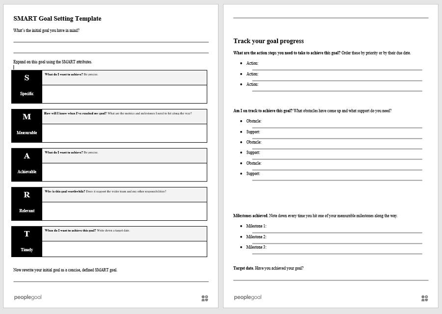 PeopleGoal smart goals template