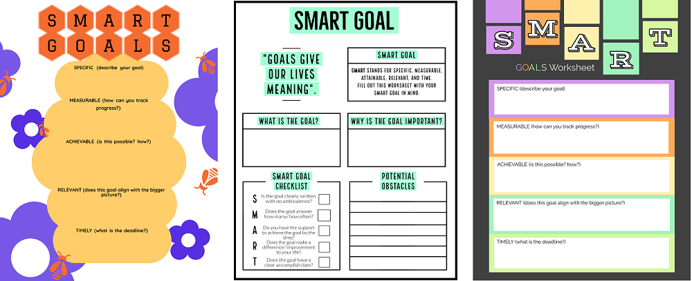 adobe SMART Goals template