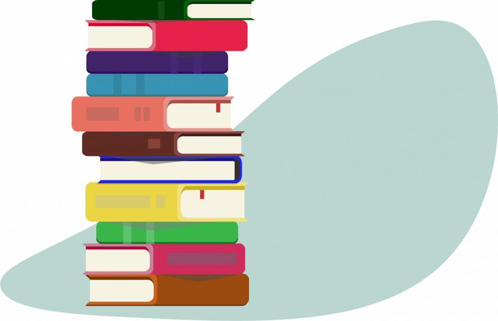 project management books - pile of books