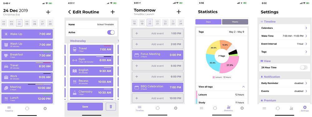 TimeBloc - time blocking app
