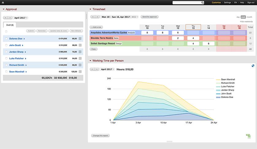 BeeBole screenshot - time tracker