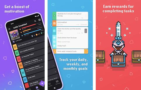 Habitica goal tracking app