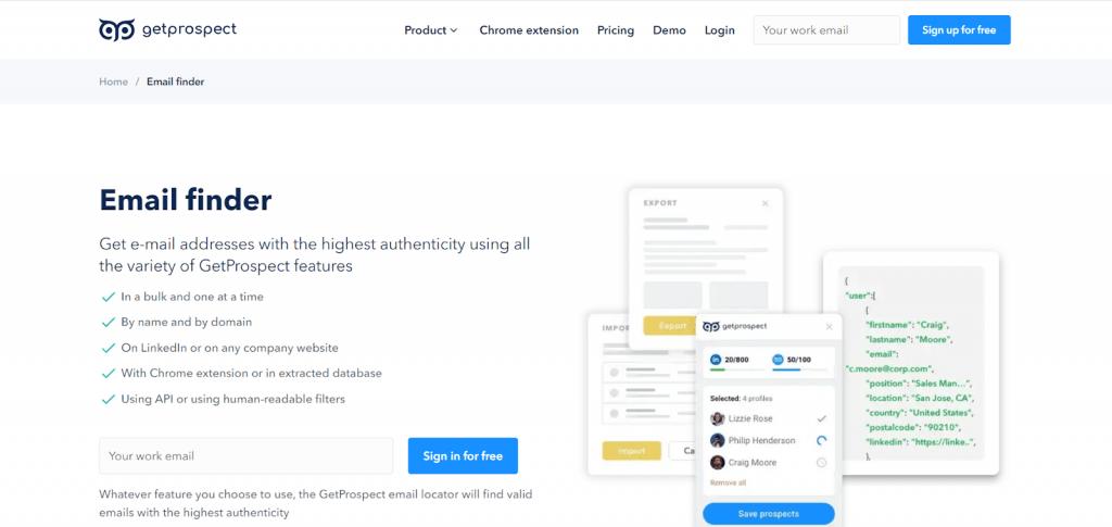 email finder tools get prospect