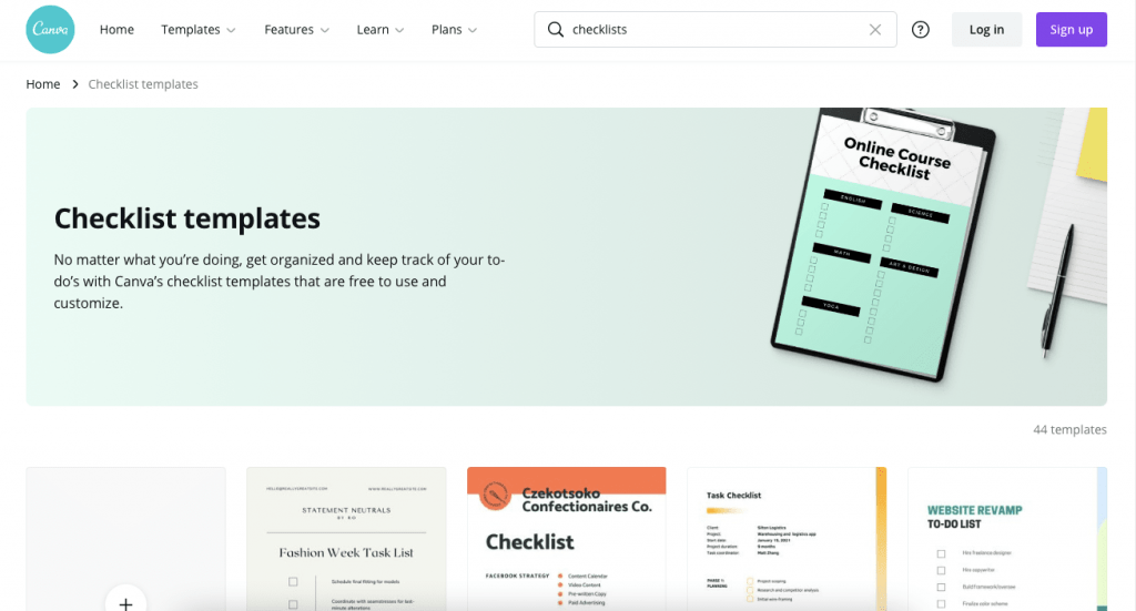 canva to-do list template