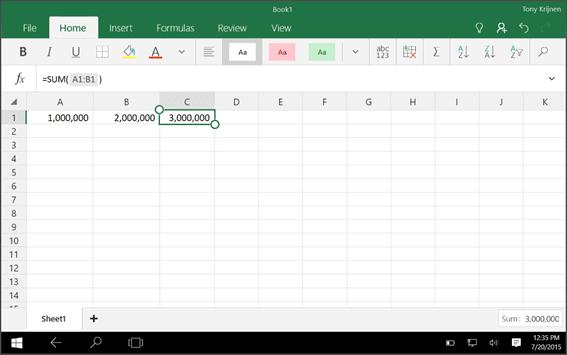Excel app