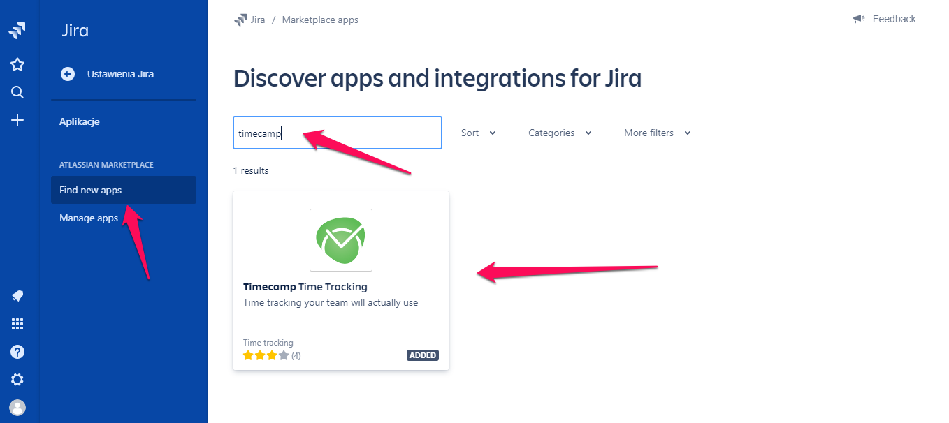 Jira integration search