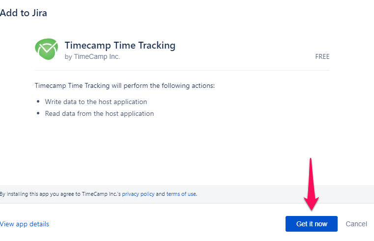 TimeCamp integration setup