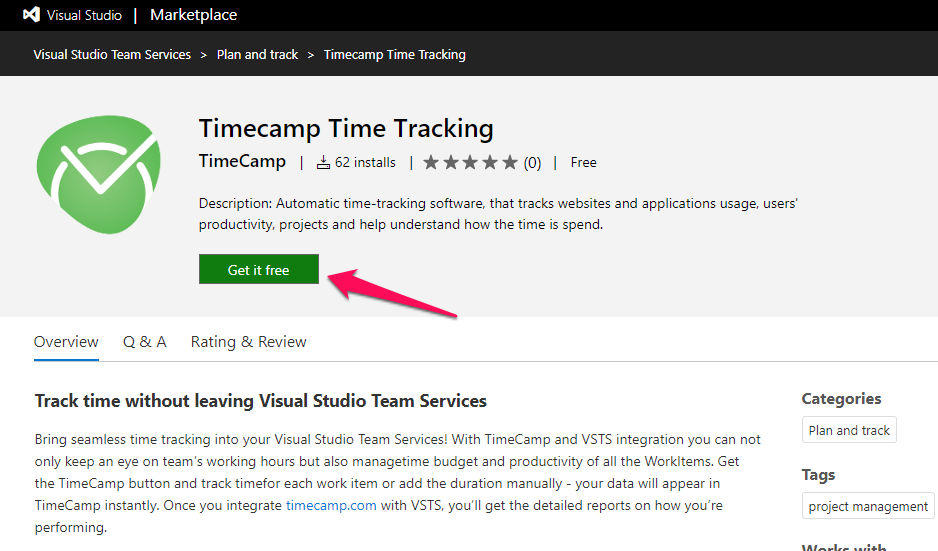 Azure DevOps plugin - TimeCamp Knowledge Base