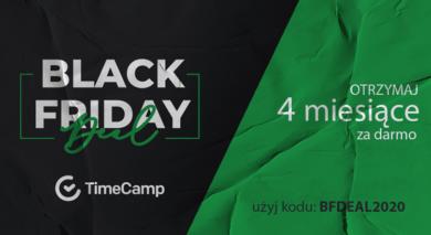 Tydzień z Black Friday: TimeCamp przez 4 miesiące za darmo!